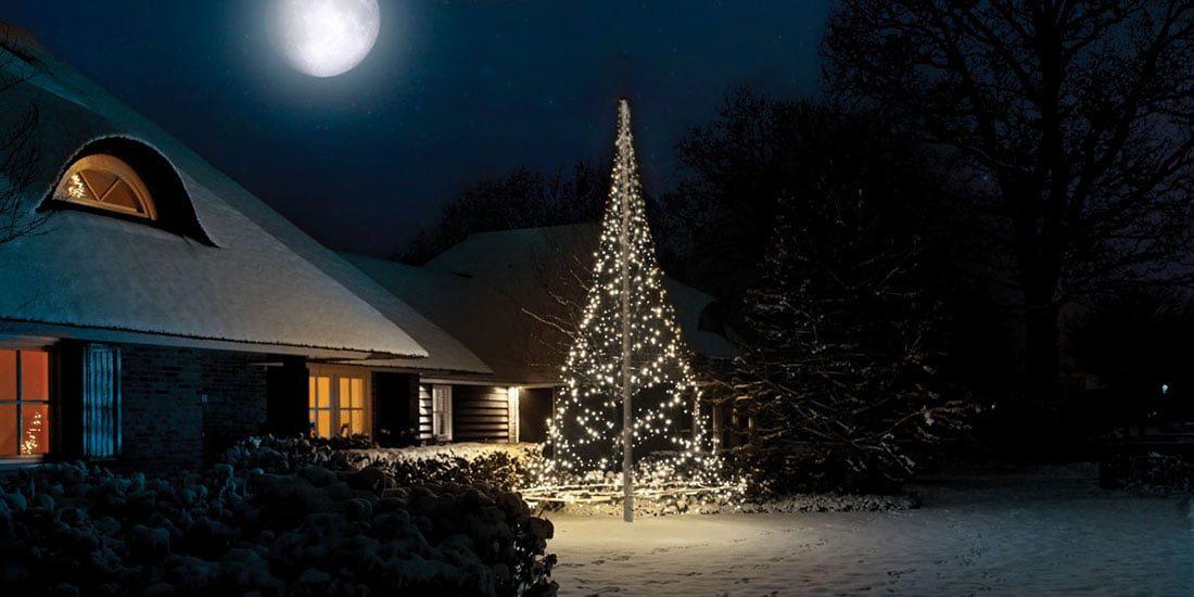 Fairybell-ljusgran som lyser upp i vintermörkret