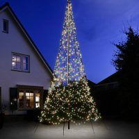 Belysning flaggst책ng Fairybell 6M Multicolor 1200LED